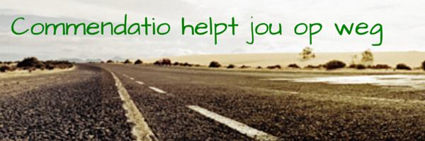Tot van een weg en de tekst Commendatio helpt je op weg
