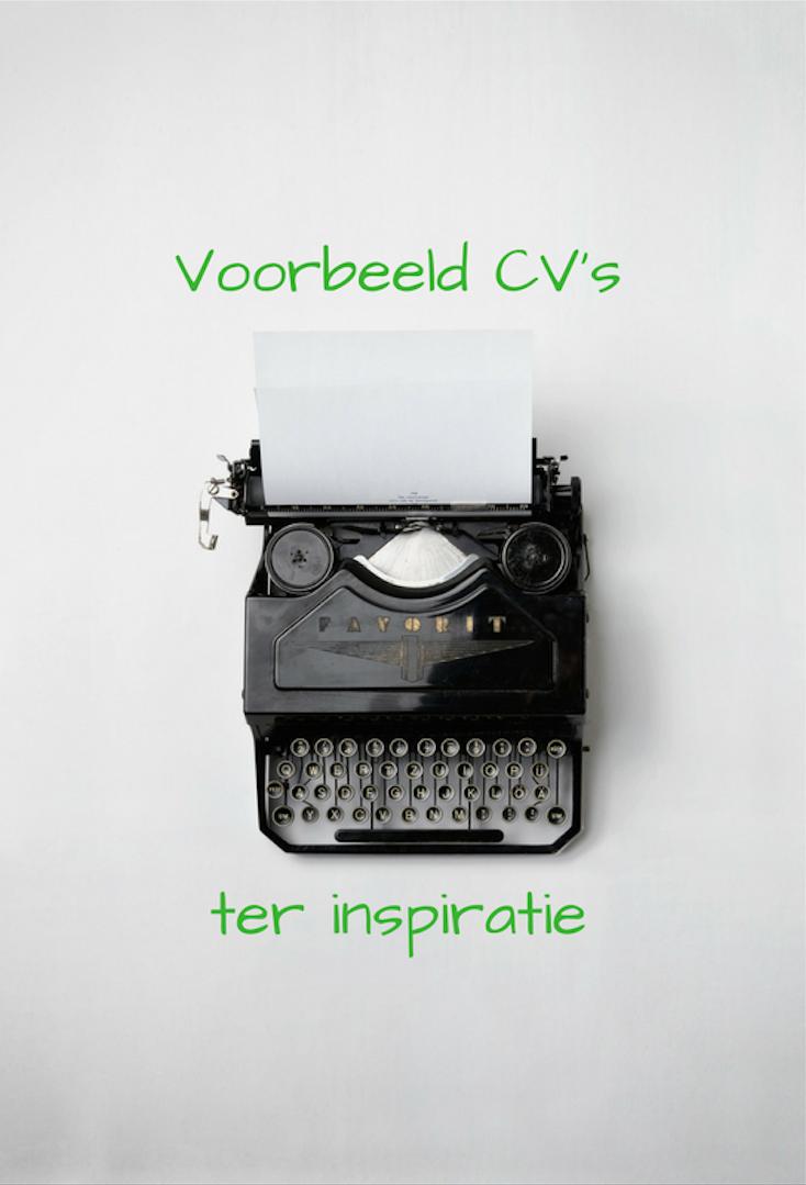 CV's ter inspiratie: nieuw in de webshop