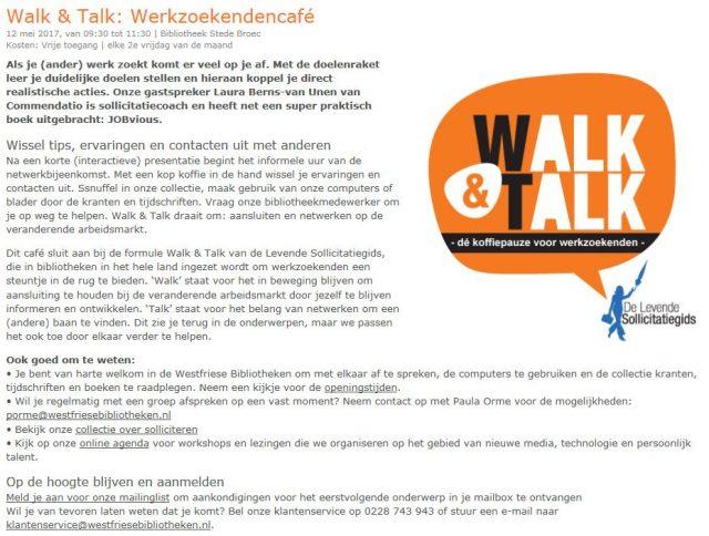 Walk&Talk Bibliotheek Stede Broec